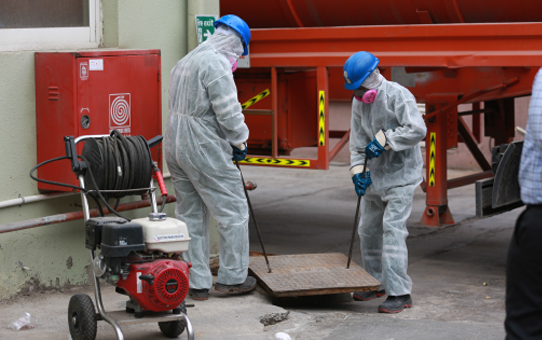 Sewage pit, channel, line, manhole and lift station cleaning